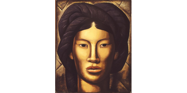 Alfredo Ramos Martínez, La Malinche (Young Girl of Yalala, Oaxaca), 1940.  Oil paint on canvas; 50 x 40 1/2 in.  (127 x 103 cm).  Phoenix Art Museum: Museum purchase with funds provided by the Friends of Mexican Art, 1979.86.  ©The Alfredo Ramos Martínez Research Project, reproduced by permission.