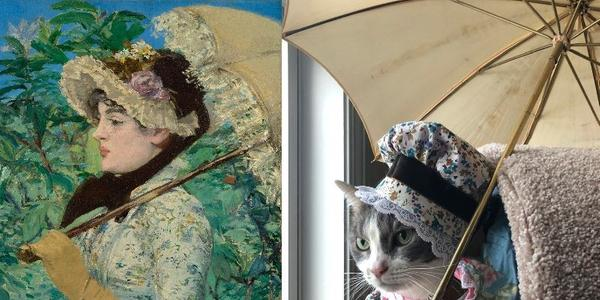 Édouard Manet, Jeanne (Spring), 1881; Re-creation: Jeannette Hulick