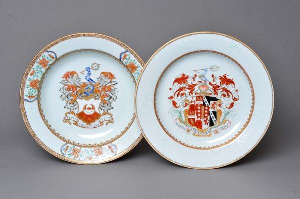 Two Plates, Made in China, about 1735 and about 1740.  Reeves Collection, Museum Purchase and Museum Purchase with funds provided by the Buddy Taub Foundation, Dennis Roach Director