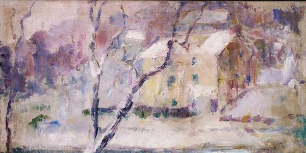 Paul Jean Martel, Addingham in the Snow, 1932, oil on canvas.