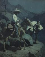 ": ""A Mexican Smuggler (1914)"" by Frank Tenney Johnson (American, 1874-1939) will be offered for $30,000 to $50,000."