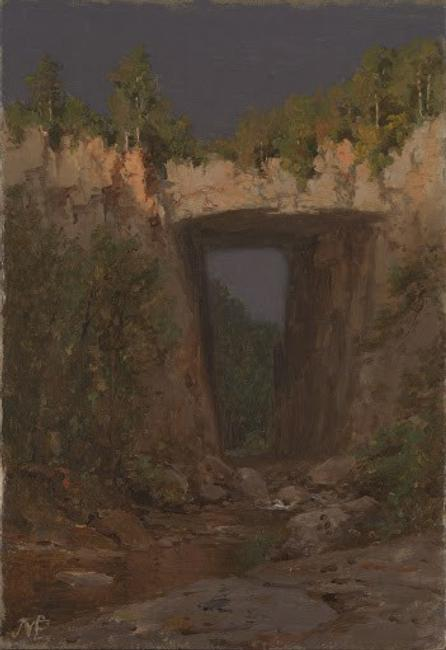Jervis McEntee (American, 1828-1891), Natural Bridge, 1877.  Collection of Virginia Museum of Fine Arts