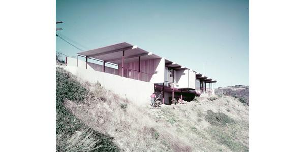 Photo taken by Julius Shulman of the Zack House in 1954
