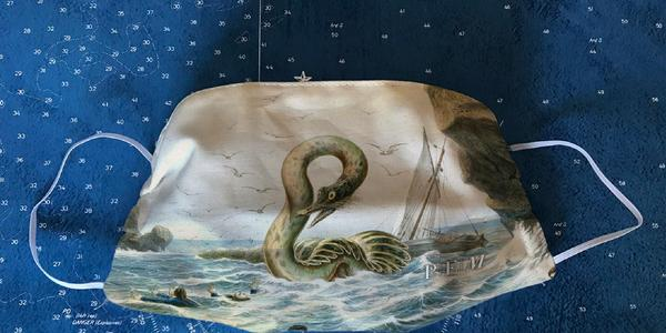 The Great Sea Serpent face mask from Peabody Essex Museum Shop.