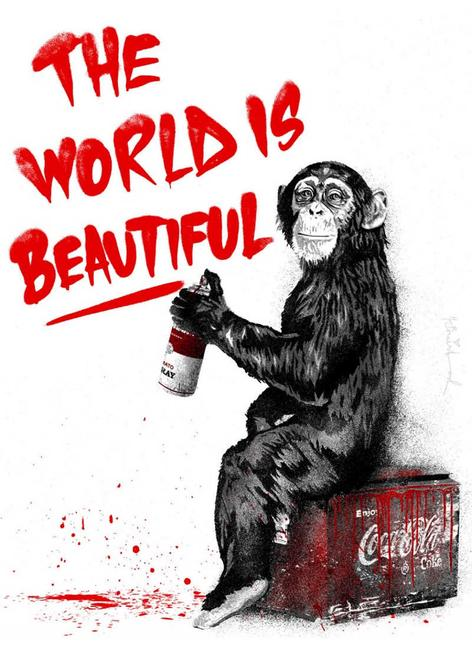Mr.  Brainwash The World is Beautiful.