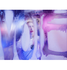 Still from MY VOTE,  created by artist Marilyn Minter and starring actress Amber Heard.