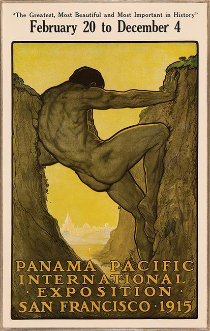 "Perham Wilhelm Nahl, ""The Thirteenth Labor of Hercules: Official Poster for the Panama-Pacific International Exposition,"" 1913-1914"