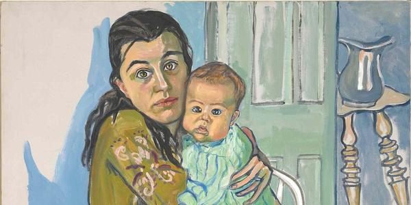 Alice Neel, Nancy and Olivia, 1967.  Oil on canvas, 99.1 × 91.4 cm.  Diane and David Goldsmith Collection © Estate of Alice Neel, David Zwirner, New York/London