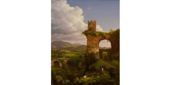 """Thomas Cole's """"The Arch of Nero"""" (1846) brought $988,000 for the Newark Museum of Art."""