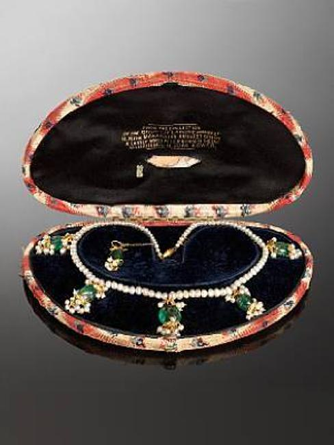 Estimated to sell for £25,000-35,000, this rare necklace comes from the Collection of Maharajah Ranjit Singh and Maharani Jindan Kaur (1817-63).