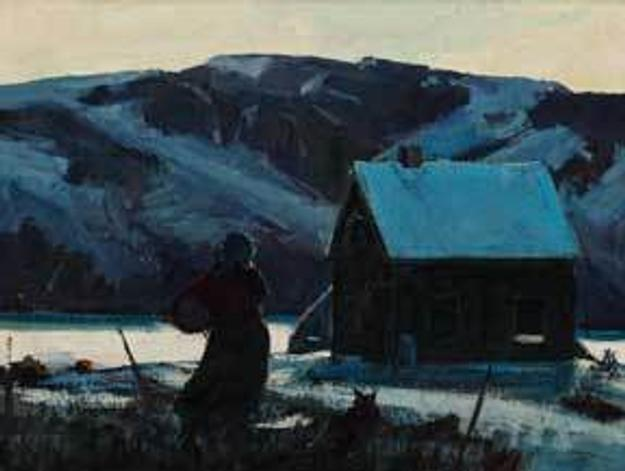 Jay Hall Connaway, 1893 - 1970, Monhegan, 1937, oil on canvas, 24 x 18 inches.  Lent by William D.  Hamill