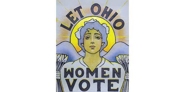 "A 1913 poster by Cornelia Cassady Davis for women's suffrage, in ""The Art of Protest."""
