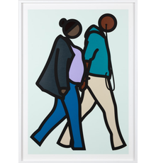 Julian Opie.  New York Couple 6.  from the Series New York Couples, Edition 5 of 55, 2019, Estimate $6,375-8,500