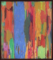 Untitled (AMA-12), 1985, acrylic on canvas, 56 1/4 x 50 1/4 inches.