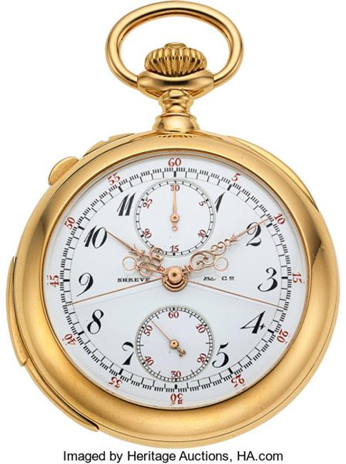 Patek Philippe, Very Fine & Historically Important Minute Repeating Split Seconds Chronograph With Register Presented By The Citizens Of San Francisco To Surgeon General Rupert Blue, Circa 1908
