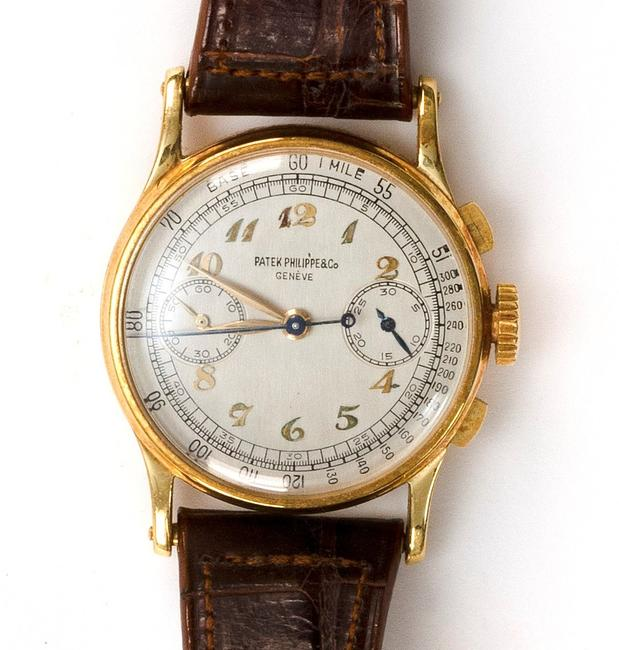 Eldred's sold a rare Patek Philippe split second chronograph watch for $276,000 on Saturday.