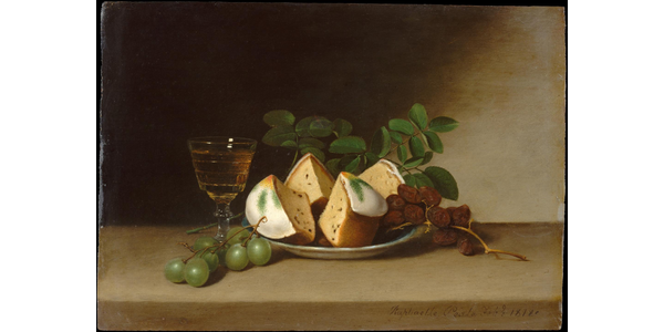 Raphaelle Peale (1774–1825) Still Life with Cake, 1818.
