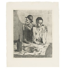 PABLO PICASSO Le Repas Frugal etching with drypoint, 1904 Image: 18⅛ x 14¾ in.  (460 x 375 mm.) Sheet: 24⅝ x 19⅞ in.  (626 x 505 mm.)