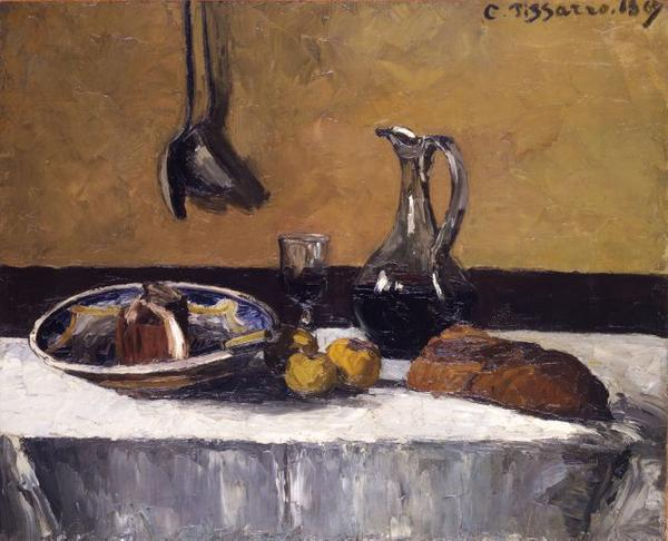 Camille Pissarro (French, 1830–1903), Still Life.  Oil on canvas, 1867.  Toledo Museum of Art, Purchased with funds from the Libbey Endowment, Gift of Edward Drummond Libbey, 1949.6