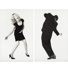 Robert Longo, Men in the Cities: Raphael and Barbara, 1998, lithograph, included in the May 21, Prints and Photographs Auction