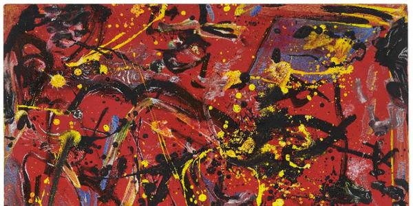 Jackson Pollock's Red Composition is offered for sale for between $12 million and $18 million.