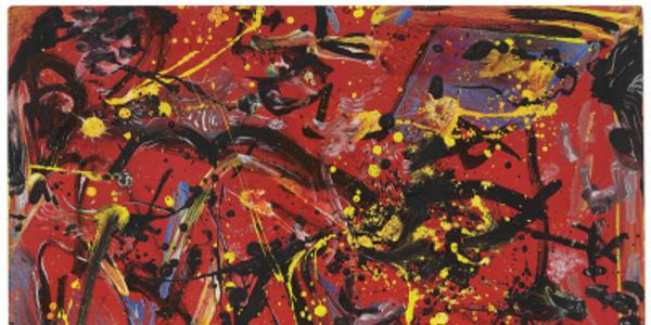 Jackson Pollock's Red Composition (1946), which the Everson Museum sold at Christie's for a hammer price of $12 million in October 2020.