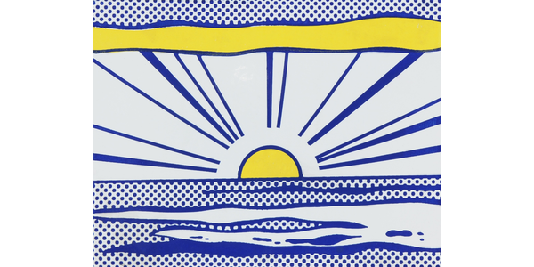 From William Weston Gallery is Roy Lichtenstein's Sunrise, 1966.