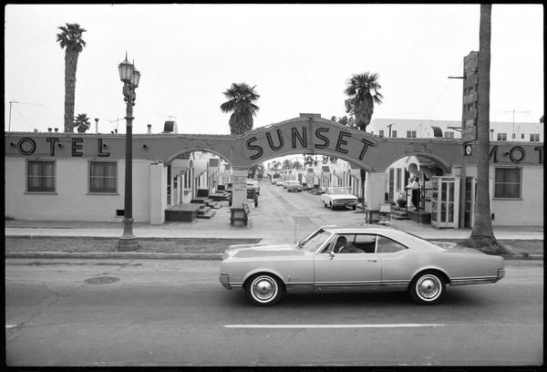 From Sunset Blvd, 1966, Ed Ruscha.  Streets of Los Angeles Archive.  The Getty Research Institute, 2012.M.1.  © Ed Ruscha