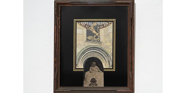 """""""For Rosey,"""" (1976) by Betye Saar, Mixed Media Collage, Collection of the California African American Museum, Gift of Dr.  and Mrs.  Leon O.  Banks, Courtesy of the California African American Museum.  (Credit: Gareth Mackay)"""