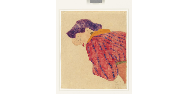 Egon Schiele's Liegendes Madchen mit roter Bluse is offered at Christie's Paris.