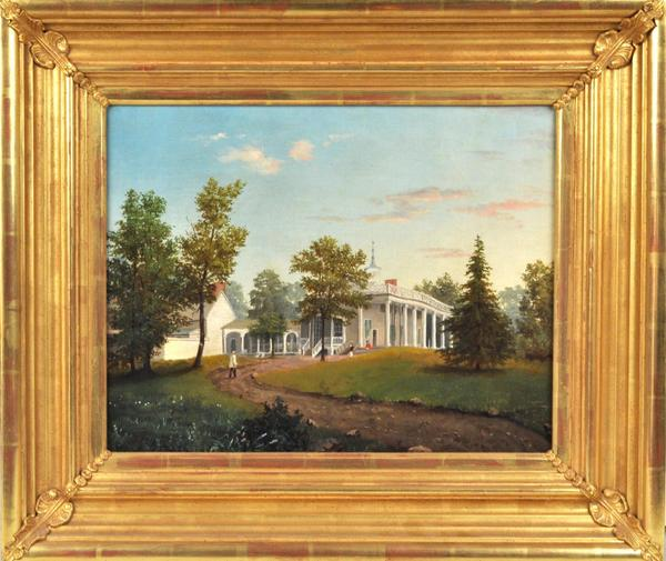 An anonymous oil on canvas painting of Mount Vernon, the Virginia home of George Washington.