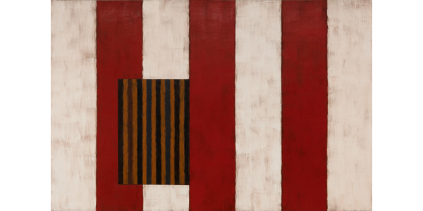 Pale Fire, 1988, by Sean Scully.  Oil on linen, 8 feet x 12 feet 21/2 inches.  Modern Art Museum of Fort Worth, Texas, Museum purchase, Sid W.  Richardson Foundation Endowment Fund.  © Sean Scully.