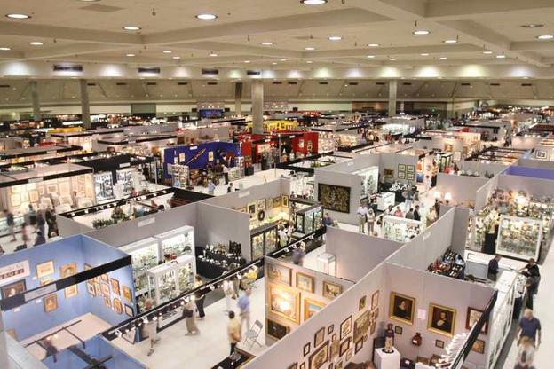 The Baltimore Summer Antiques Show attracted tens of thousands of visitors.