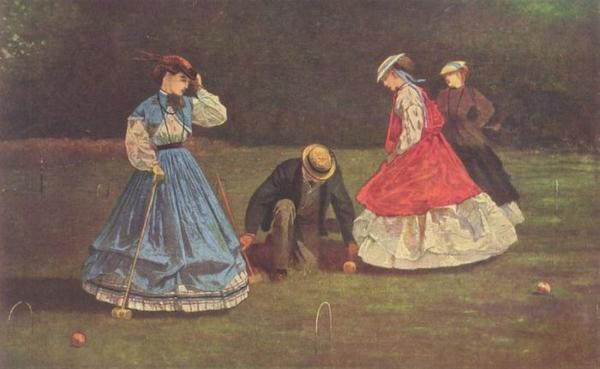 Winslow Homer, Croquet Scene, 1866, Art Institute of Chicago.