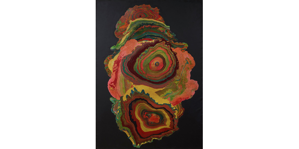 Shozo Shimamoto, Untitled - Whirlpool, 1965, oil on canvas, The Rachofsky Collection and the Dallas Museum of Art through the TWO x TWO for AIDS and Art Fund, 2012.1.3, © Shozo Shimamoto Association.  Naples