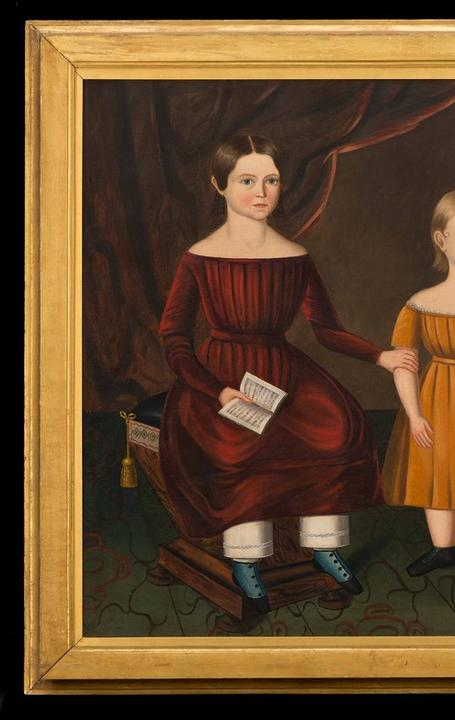 The Hansbury Sisters Possibly Pennsylvania, ca.  1840 Oil on canvas Museum Purchase, 1957.100.8