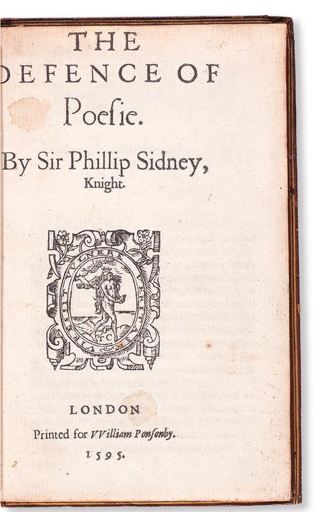 Lot 230: Sir Philip Sidney, The Defence of Poesie, unauthorized first edition, London, 1595.  Sold March 8, 2018 for $149,000, a record for the work.