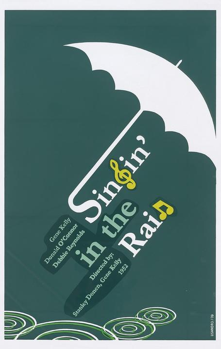 Lisandro Trepeu, Singin' in the Rain, 2009.  Silkscreen, 29 15/16 x 20 1/16 inches.  Instituto Cubano del Arte e Industria Cinematográficos (ICAIC).  Courtesy of the Center for the Study of Political Graphics