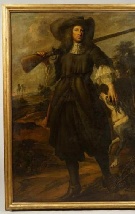 17th century oil on canvas painting by Bartolome Esteban Murillo (1618-1682), unsigned and overall 74 inches by 52 inches (est.  $10,000-$20,000).