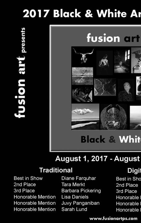 "Fusion Art's ""Black & White"" Art Exhibition is Now Open.  www.fusionartps.com"