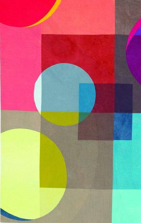 Anne Anderson, Orbit, Cotton, 79 x 78.5 inches