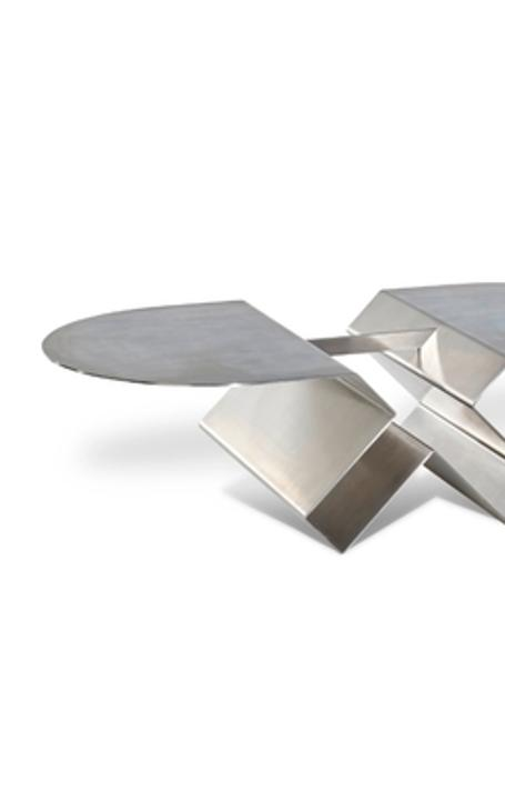LEFT Osvaldo (1911-1985) and Valeria Borsani, Unique Occasional Table, 1971 (estimate: $15,000-30,000) MIDDLE Gino Cenedese (1907-1973) and Antonio Da Ros (1936-2012), Important Vetri Sommersi Contrappunto Sasso Exhibition Vase, 1960 (estimate: $15,000-$20,000) RIGHT Tiffany Studios (1899-1930) Rare Geometric Turtle-Back Banded Hanging Lamp, circa 1905 (estimate: $50,000-70,000)