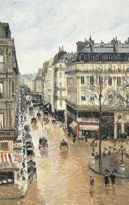 Pissarro's Rue Saint-Honoré in the Afternoon.  Effect of Rain.  1897.