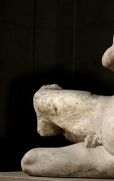 The British Museum loaned an Elgin Marble, the Greek river god Ilissos, to an exhibition celebrating the Hermitage's 250th anniversary.  It will be on display there until Jan.  18.