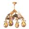 Lot 74, An Art Nouveau Slag Glass and Gilt Bronze Chandelier, sold for $27,500.  Pre-sale estimate: $4,000/6,000