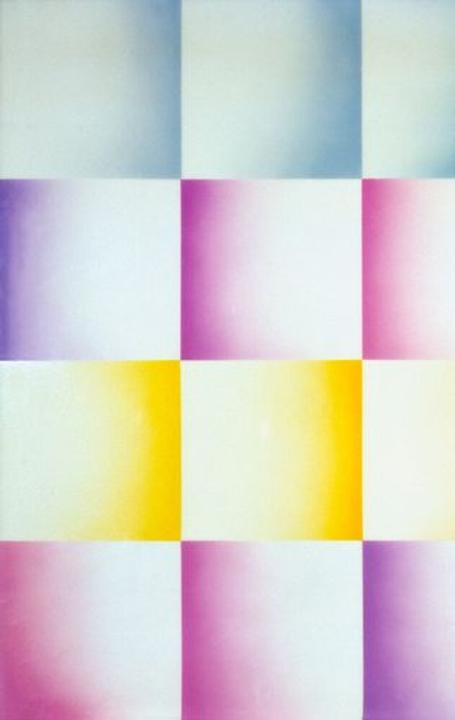 Judy Chicago, Flesh Fan, 1971.  Sprayed acrylic lacquer on acrylic, 60 x 120 inches.
