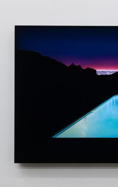 Doug Aitken [Not yet titled] 2018.  Chromogenic transparency on acrylic in aluminum lightbox with LEDs.  68 x 125 x 7 inches (172.7 x 317.5 x 17.8 cm) Edition of 4.