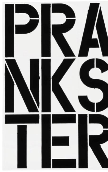 Untitled, 1989, Enamel and acrylic on aluminum, 96 x 64 inches.  © Christopher Wool; Courtesy of the artist and Luhring Augustine, New York.