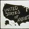 "Scott Grieger, United States of Anxiety, 33.5"" x 46"", chalkboard paint on paper, 1995"