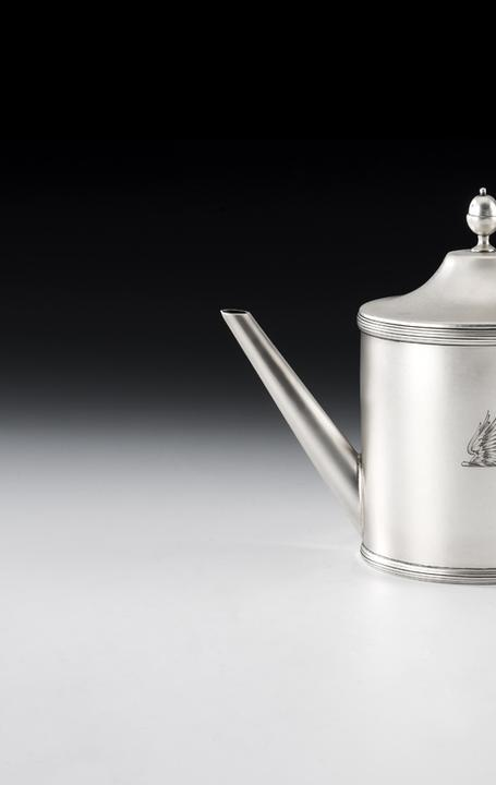 Rare piece of George III silver Argyle made in York, 1790